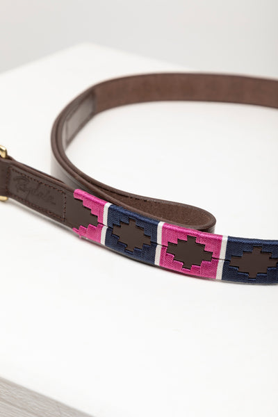 Navy/Bonbon/Vanilla - Polo Belt Dog Lead