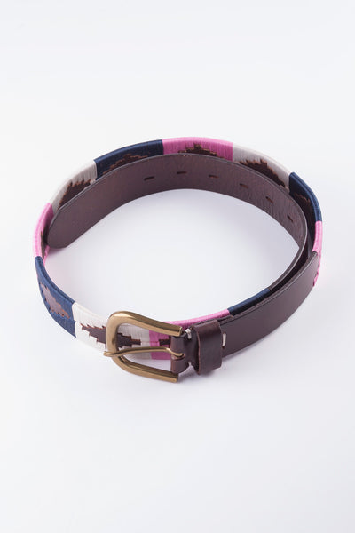Navy/Bonbon - Polo Belt