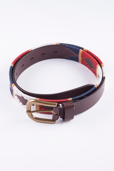 Navy/Gold - Polo Belt