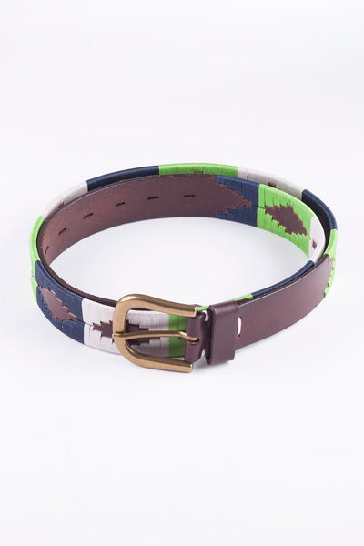 Navy/Lime - Polo Belt
