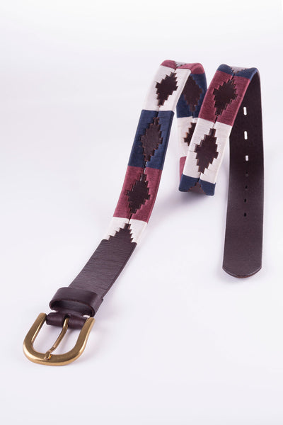Navy/White/Mulberry - Rydale Polo Belt