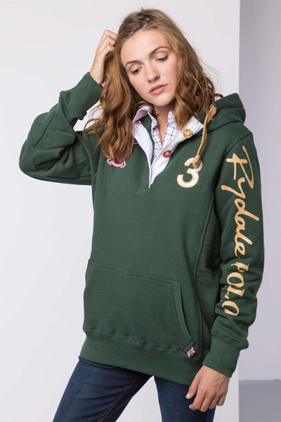 Dark Green - Ladies Polo Club Hoody