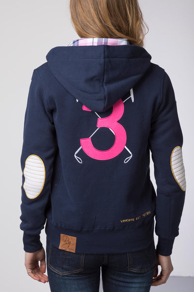 Navy - Ladies Polo Club Hoody
