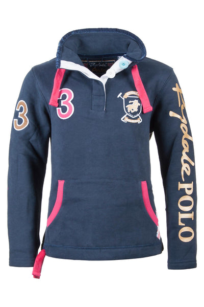 Navy - Girls Polo Club Sweatshirt