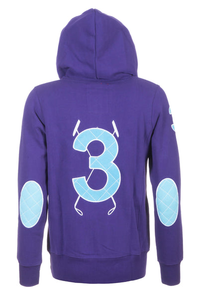 Grape - Rydale Button Neck Polo Hoody