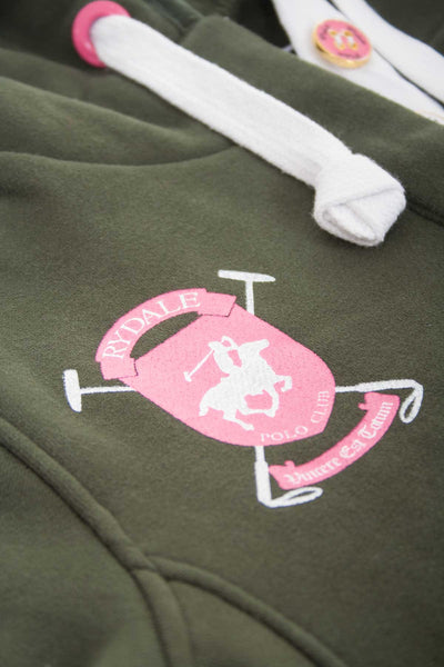 Olive - Womens Polo Club Style Hoodies
