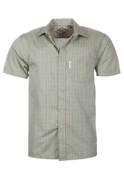 Poacher Olive - Mens Easy Care Short Sleeved Shirt