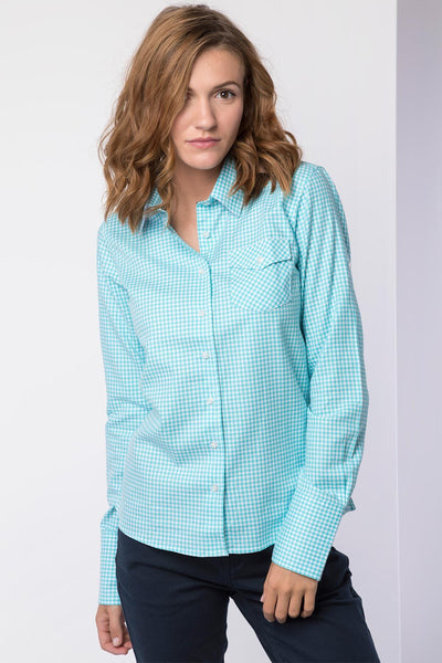 Poppy Mint - Ladies Country Check Shirt