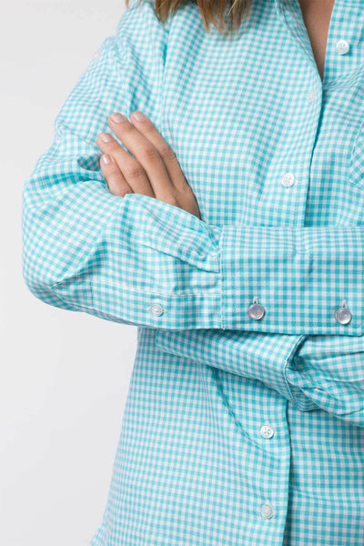 Poppy Mint - Ladies Check Shirt