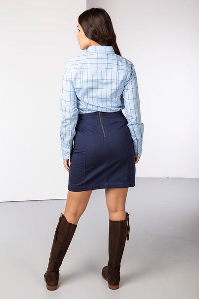 Navy - Ladies Portia Chino Skirt