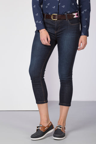 Navy Denim - Ladies Portia Skinny Crops