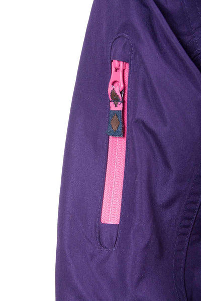 Purple - Kids Elasticated Waist Bomber Style Jacket