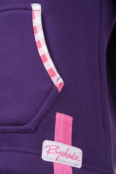 Dark Purple - Pink Trim Ladies Jumpers