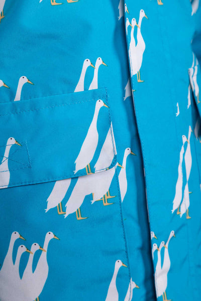 Duckie Blue - Children's Patterned Raincoat