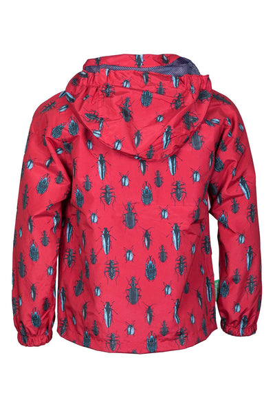 Bugs Red - Children's Patterned Raincoat