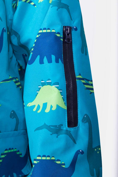 Dinosaur Blue - Children's Patterned Raincoat