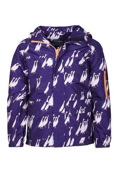 Duckie Purple - Children's Patterned Raincoat