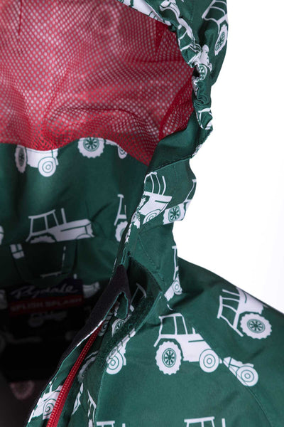 Tractor Green - Children's Patterned Raincoat