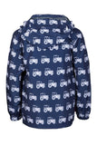 Tractor Navy - Children's Patterned Raincoat