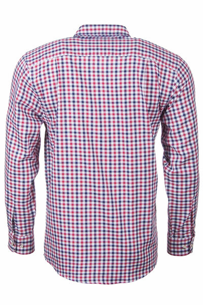 Richmond Red/navy - Long Sleeved Country Check Shirt