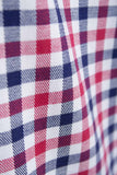 Richmond Red/navy - Red & Blue Gingham Check Shirt