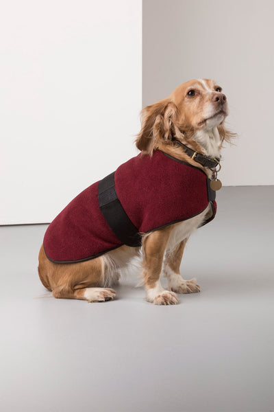 Red - Rydale Fleece Dog Coat