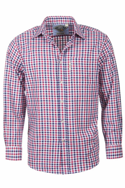 Richmond Red/navy - Country Check Shirts For Him