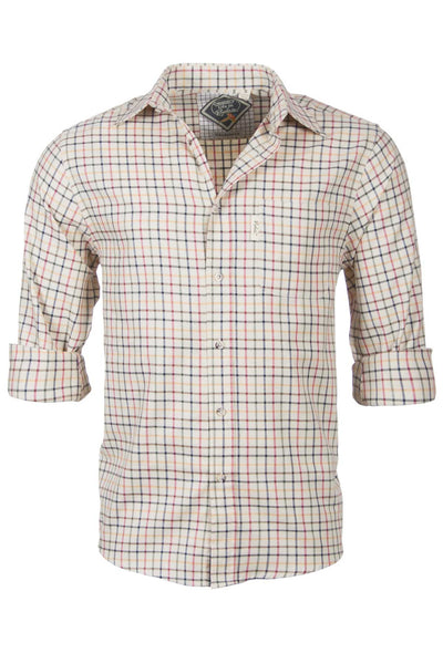 Red Mix - Mens 100% Cotton Long Sleeved Shirt
