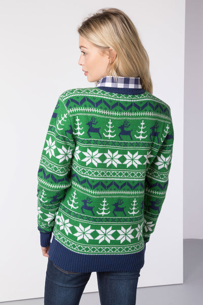 Reindeer Green - Lady 2016 Christmas Sweater