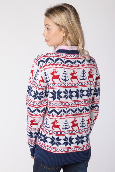 Reindeer White - Lady Christmas 2016 Sweater