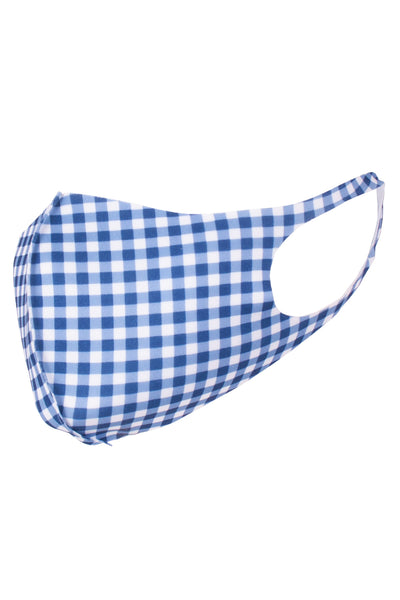 Blue Gingham - Reusable Face Mask