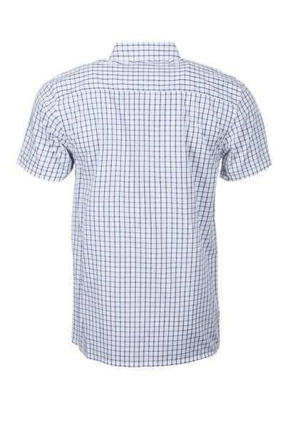 Richmond Navy/white - Short Sleeved Country Check Shirts