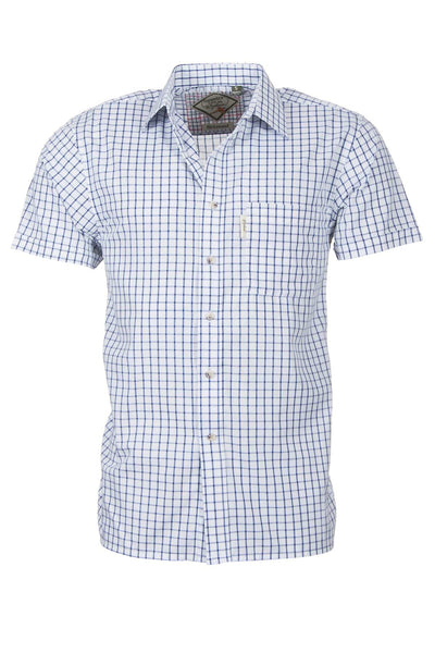 Richmond Navy/white - Mens Easy Care Short Sleeved Shirt