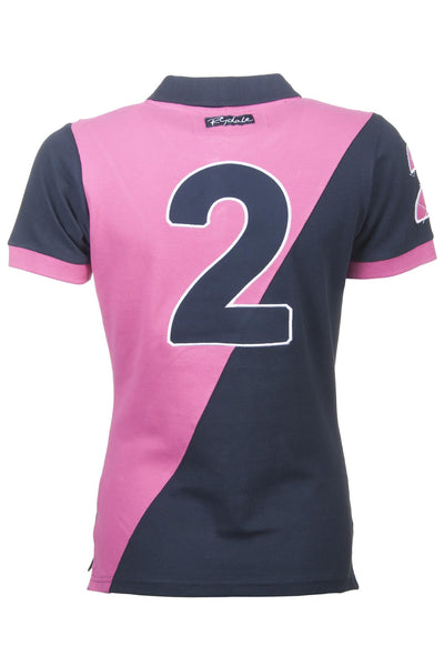 Navy / Candy - Rydale Number 2 Polo Team Pique