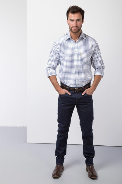 Richmond Navy/white - Country Check Shirts For Him