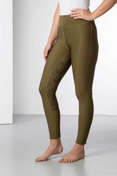 Khaki - Ladies Riding Tights