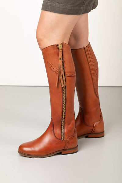 Tan - Rievaulx Leather Spanish Riding Boots