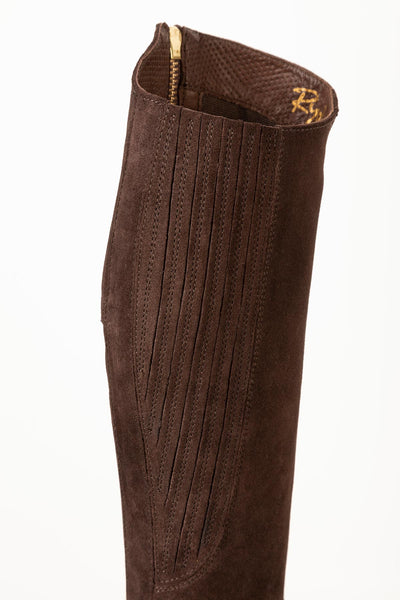 Brown - Rievaulx Suede Spanish Riding Boots