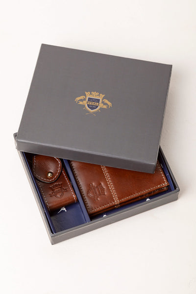 Ripley Leather Wallet & Keyring Set