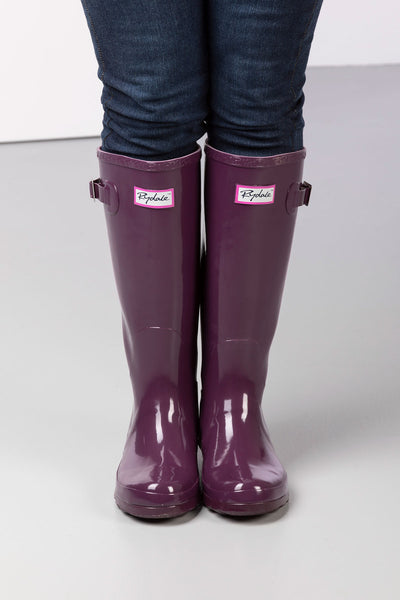 Berry - Ladies Ripon II High Gloss Wellies