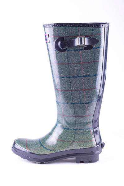Kate - Ripon High Gloss Tweed Pattern Wellingtons