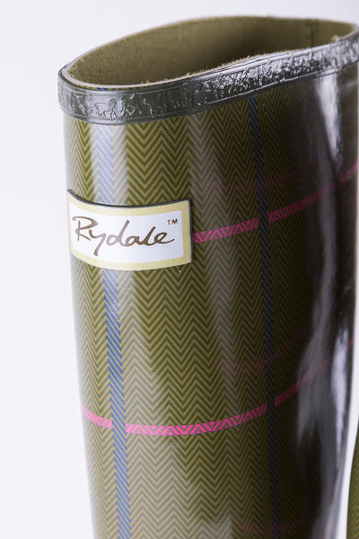 Megan - Ripon High Gloss Tweed Pattern Wellingtons