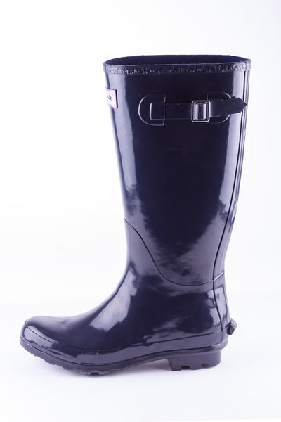 Navy - Ladies Ripon II High Gloss Wellies