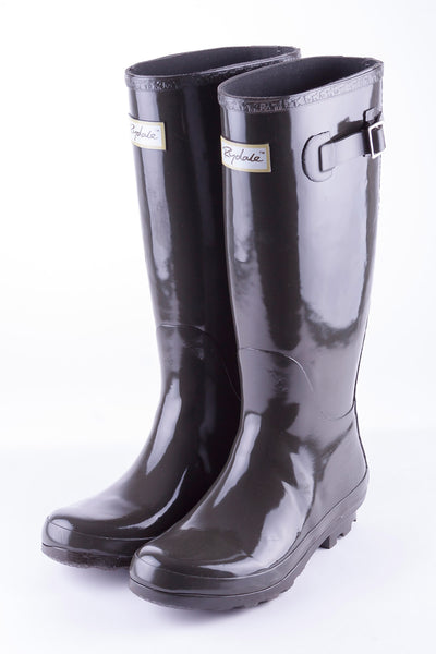 Olive - Ladies Ripon II High Gloss Wellies