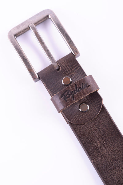 Brown - Rocky Strap Leather Belt