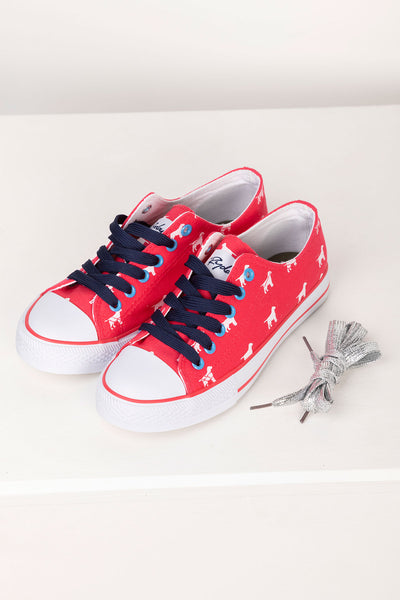 Cherry - Roxby II Canvas Trainers