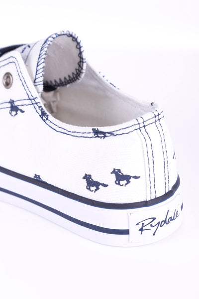 Horse White II - Ladies Roxby Canvas Trainers