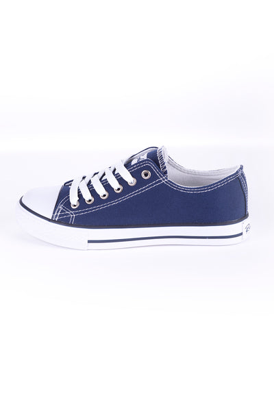 Navy - Ladies Roxby Canvas Trainers