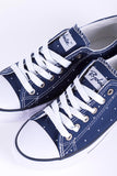 Spotty Navy - Ladies Roxby Canvas Trainers