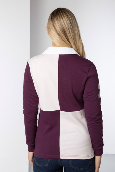Berry/Sorbet - Ladies Rugby Shirt - Cropton Quartered